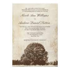 Tree Wedding Invitations Oak Tree Wedding Invitations U0026 Announcements Zazzle Co Uk