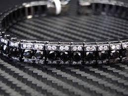 black bracelet white gold images White gold tennis bracelet with black and white diamonds in 28 30 ct jpg
