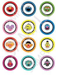 sesame cake toppers sesame cupcake toppers 2 cupcake toppers