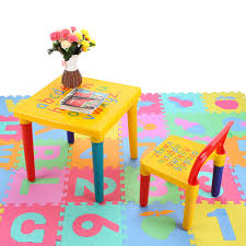 childrens plastic table and chairs abc alphabet plastic table and chair set for kid children furniture