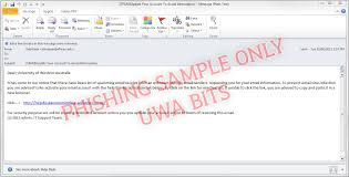 Business Email Example by Phishing Business Information And Technology Services The
