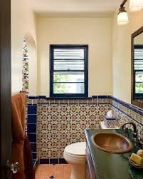 mexican tile bathroom designs mexican style bathroom bathroom mediterranean with wall tile small
