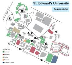 map of st st edward s cus map hilltop views arts