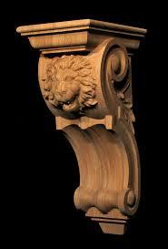 Large Wooden Corbels Corbel Roaring Lion Carved Wood