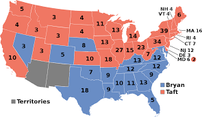 Continental United States Map by United States Presidential Election 1908 Wikipedia