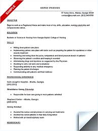 Nursing Resume Objective Examples by Sample Resume For Nursing Student Free Resume Example And