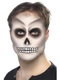 skeleton face for halloween skeleton face paint kit halloween fancy dress play u0026 party