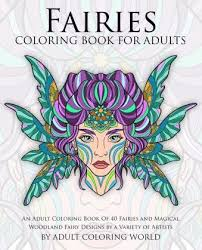 fairies coloring book adults coloring