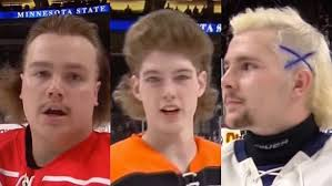 boys hockey haircuts minnesota high school hockey tournament hairdos are here