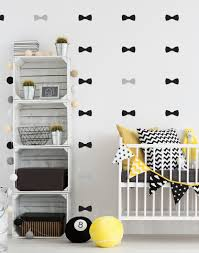 compare prices on wall stickers for sale online shopping buy low ins hot sale bow tie decal removable wall stickers for kids room nurery black grey bow