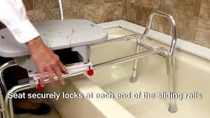 Toilet To Tub Sliding Transfer Bench 77663 Swivel Sliding Bath Transfer Bench With Replaceable Cut