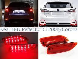 2011 toyota corolla brake light bulb for lexus ct200h red lens rear bumper reflector led tail brake light