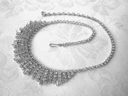 rhinestone choker collar necklace images Vintage rhinestone necklace rhinestone choker crystal collar jpg