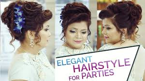 Easy And Elegant Hairstyles For Long Hair by Easy U0026 Elegant Bun Hairstyle Updo For Parties Hairstyle Tutorial