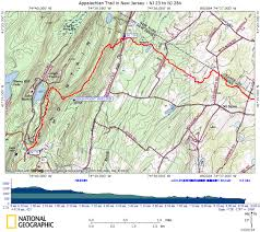 Appalachian Trail Pennsylvania Map by At In New Jersey High Point State Park