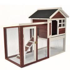 Outdoor Rabbit Hutch Plans Advantek The Stilt House Rabbit Hutch In Auburn U0026 White Petco