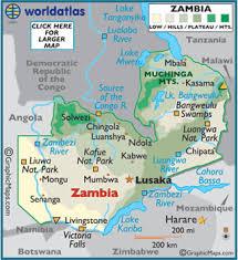 map of zambia zambia map geography of zambia map of zambia worldatlas com