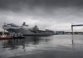 hms queen elizabeth sea trials date slips to summer