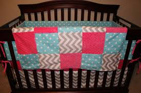 Gray And Pink Crib Bedding Baby Crib Bedding Aqua Dot Gray Chevron And Pink Crib