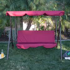 amazon com belleze 3 person patio swing outdoor canopy awning