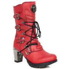 red motorcycle shoes m tr003 v2 red vegan leather new rock trail boots neotrail