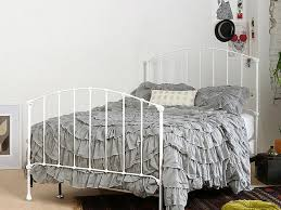 White Metal Bed Frame Baxton Studio Scarlett Victorian Style