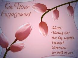 on your engagement heres wishing that this day greeting card