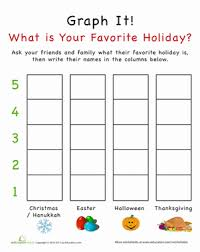 graph it what is your favorite holiday worksheet education com