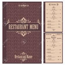 restaurant menu design template vector illustration royalty free