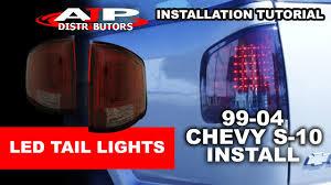 99 04 chevy s 10 led lights install ajp distributors