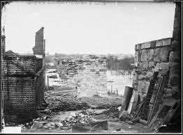 1865 april ruins of petersburg r r bridge richmond va