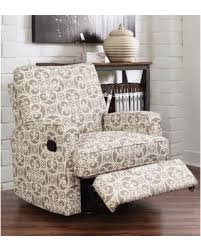 Swivel Glider Recliner Chair by Great Deals On Abbyson Luca Grey Floral Swivel Glider Recliner