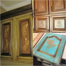Kitchen Cabinet Door Ders Kitchen Cabinet Stencil Ideas Cabinet Door Makeovers And Painting