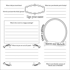 wedding guest book pages diy guestbook pages with madlib wedding diy guestbook i would