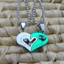 green heart pendant necklace images Evermarker heart couple necklaces titanium steel evermarker jpeg
