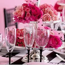 pink flowers wedding decorations designs