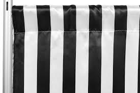 black backdrop satin 10ft h x 58 w backdrop panel drape stripe black white