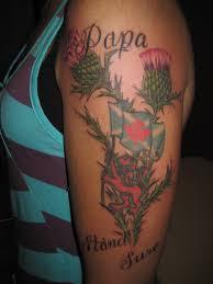Patriotic Flag Tattoos Scottish Thistles Tattoos Designs Scottish Thistles Tattoos Ideas