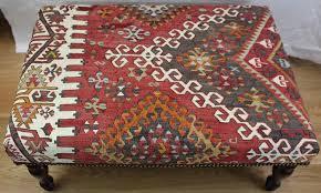 beautiful antique turkish kilim ottoman coffee table stools at