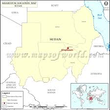 africa map khartoum where is khartoum location of khartoum in sudan map
