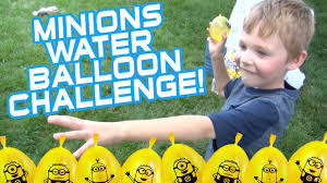 Challenge Water Balloon Minions Water Balloon Challenge Ride Bunch O