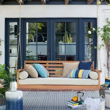 Durable Patio Furniture Furniture Using Comfy Porch Swing Cushions For Cozy Outdoor