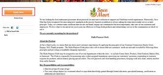 save mart job application apply online