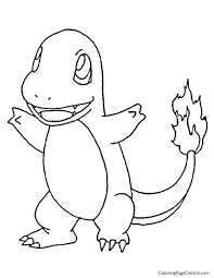 pokemon u2013 charmander coloring page 01 coloring page central