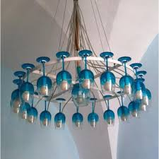 Teal Glass Chandelier Wine Glass Chandelier Ideas Upcycle Art