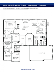 Vaulted Ceiling Floor Plans The Arlington Ii Heritage St Louis New Homes