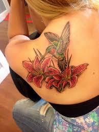 hummingbird stargazer lillies tattoos stargazer