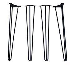 30 inch table legs 18 inch 3 rod hairpin legs ships within 2 hrs hairpin leg metal