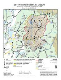 Map Of Boise Idaho Idaho Fire Information Boise National Forest Revises Pioneer Fire