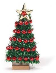 miniature christmas trees miniature christmas tree with bead garland 2 3 4 inches ebay